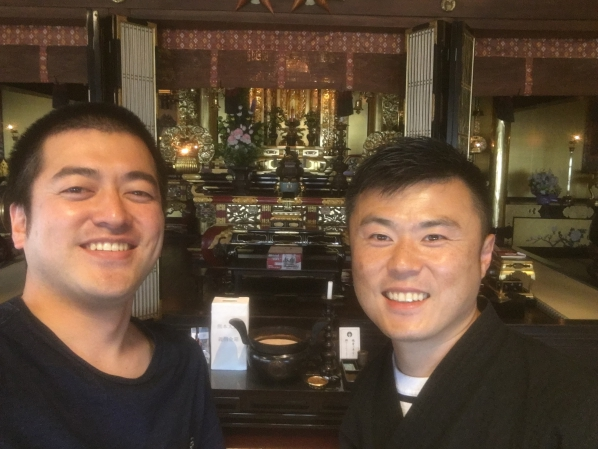 「みんなのっけて 皆乗寺まつり」主催の博多区「西林寺」の安武 副住職にお会いしてきました。の画像